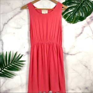 SKIES ARE BLUE Melon Pink Sleeveless Dress Small